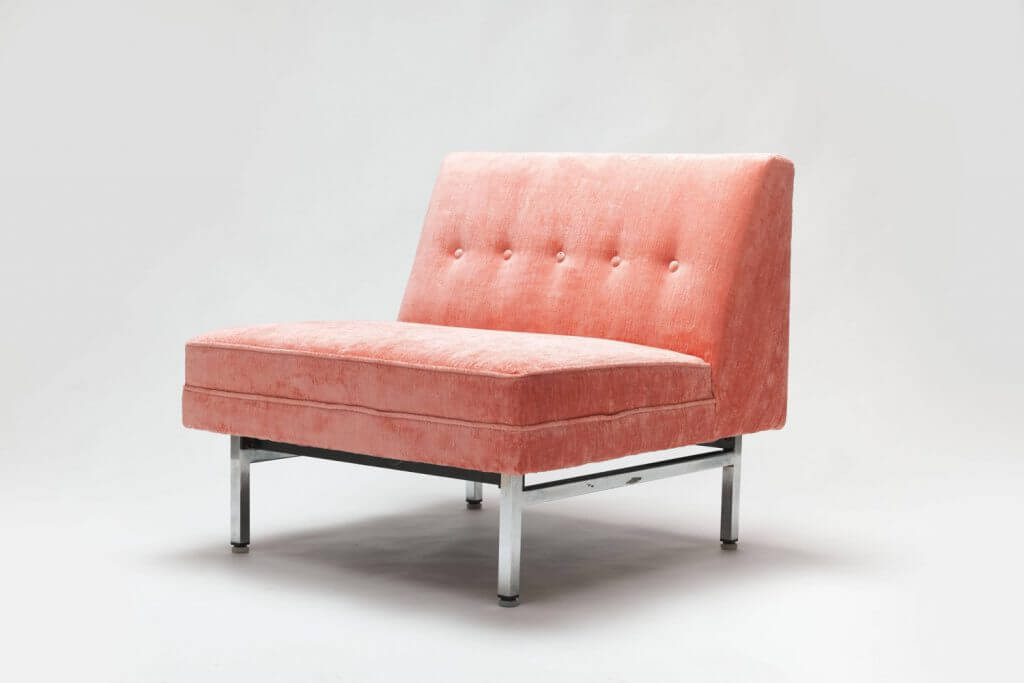 Roze vintage Modular Seating Series fauteuil