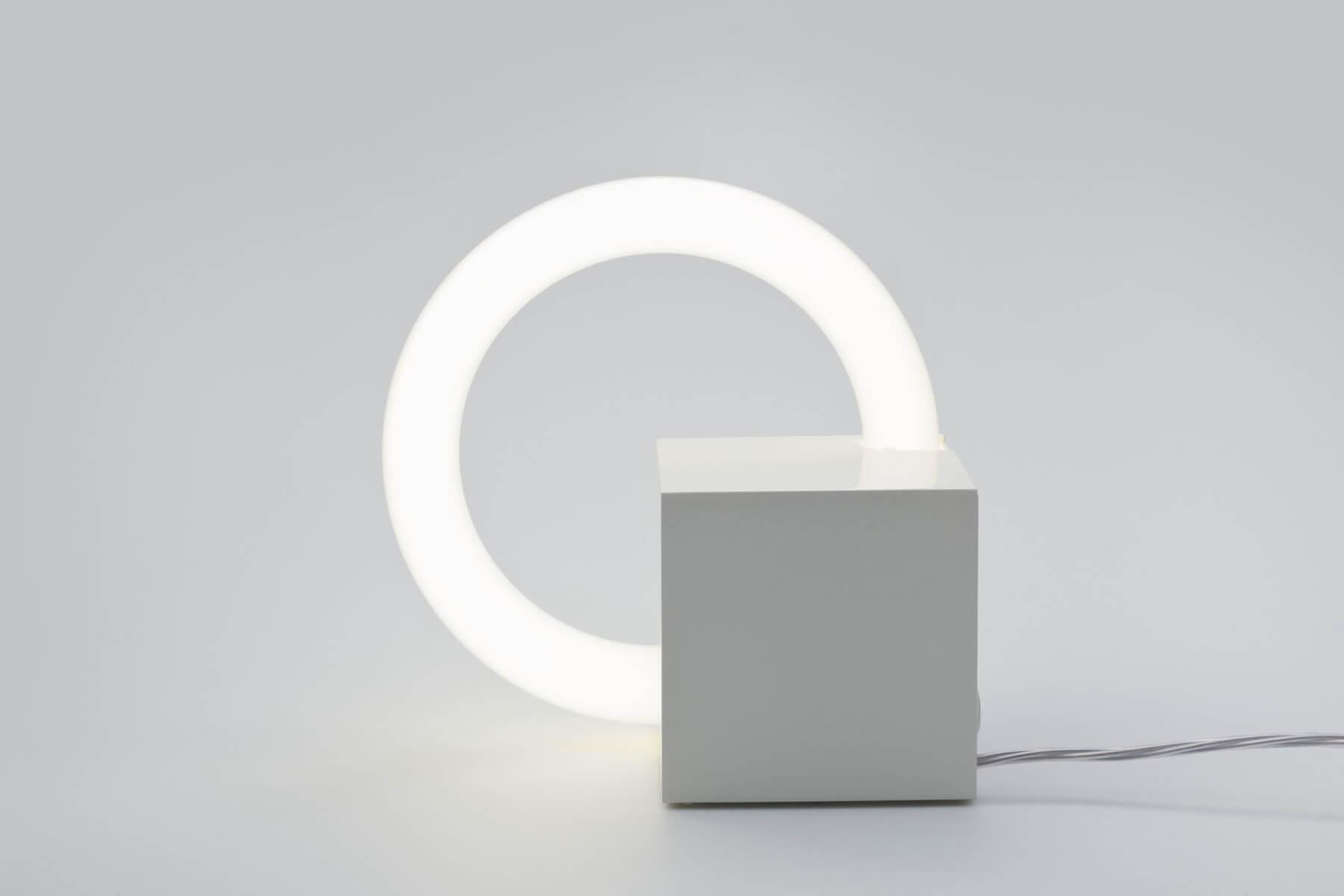 Fluorescent Cube lamp by Aldo van den Nieuwelaar
