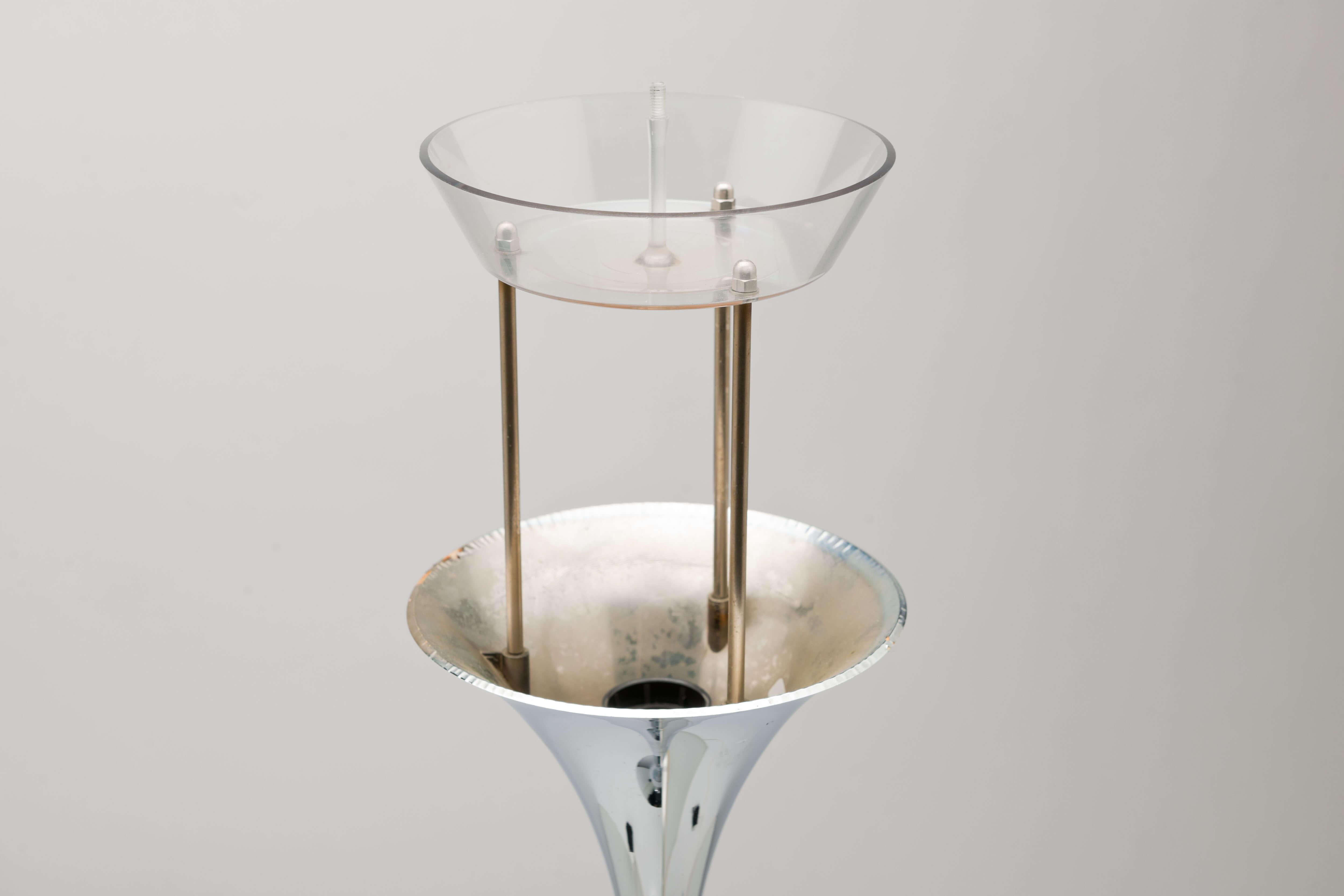 Vintage Panthella vloerlamp in chroom
