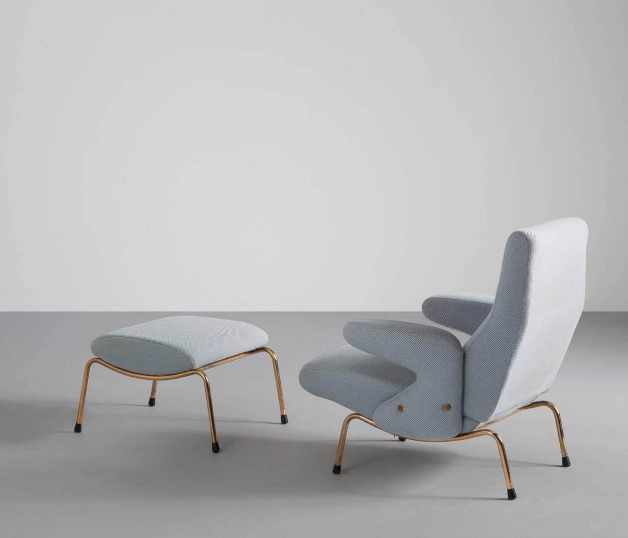 Delfino chair 1954 voetenbank