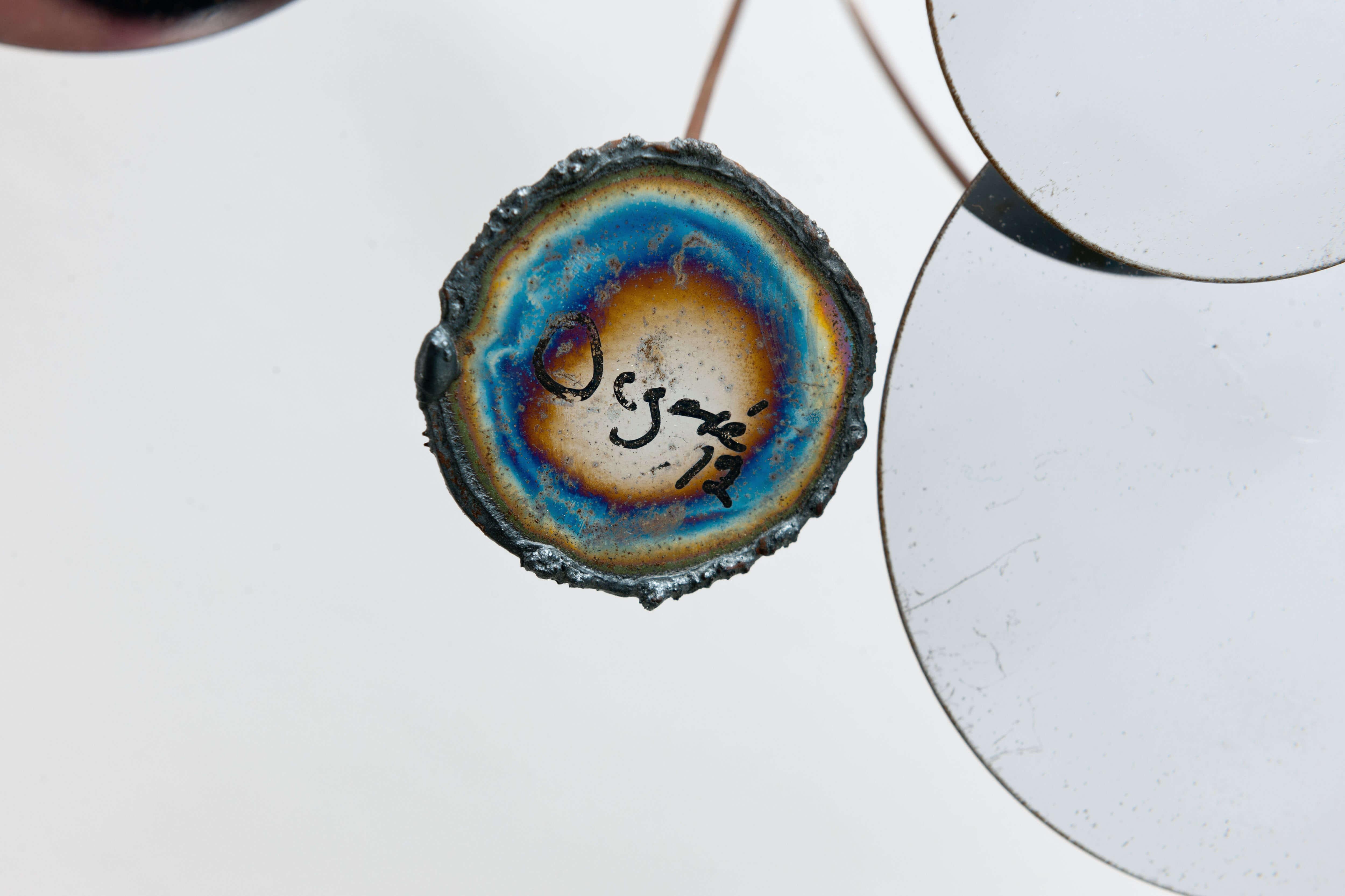 Vintage Raindrops wandobject – Chroom – gesigneerd