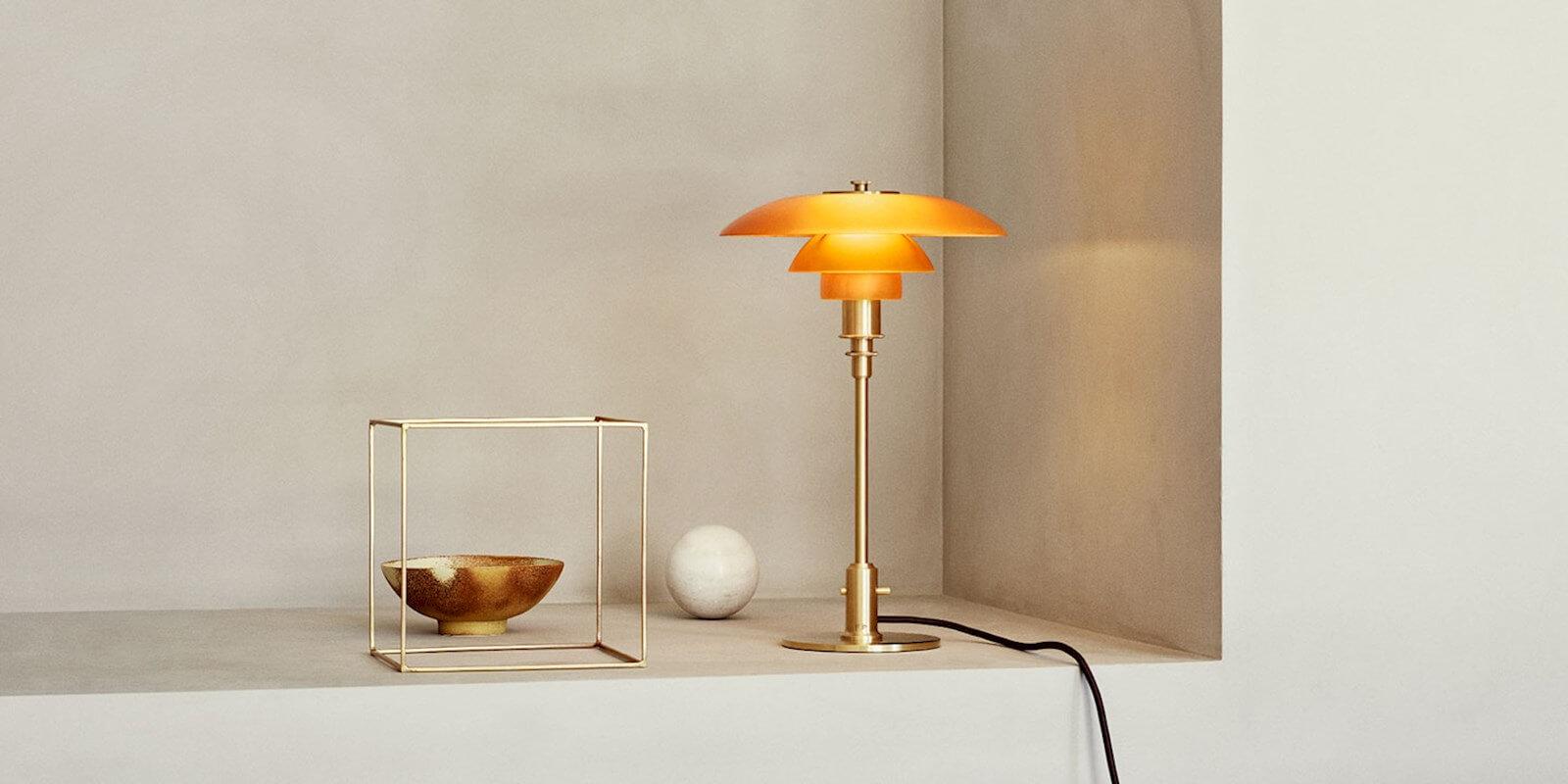 PH 2/3 Amber tafellamp