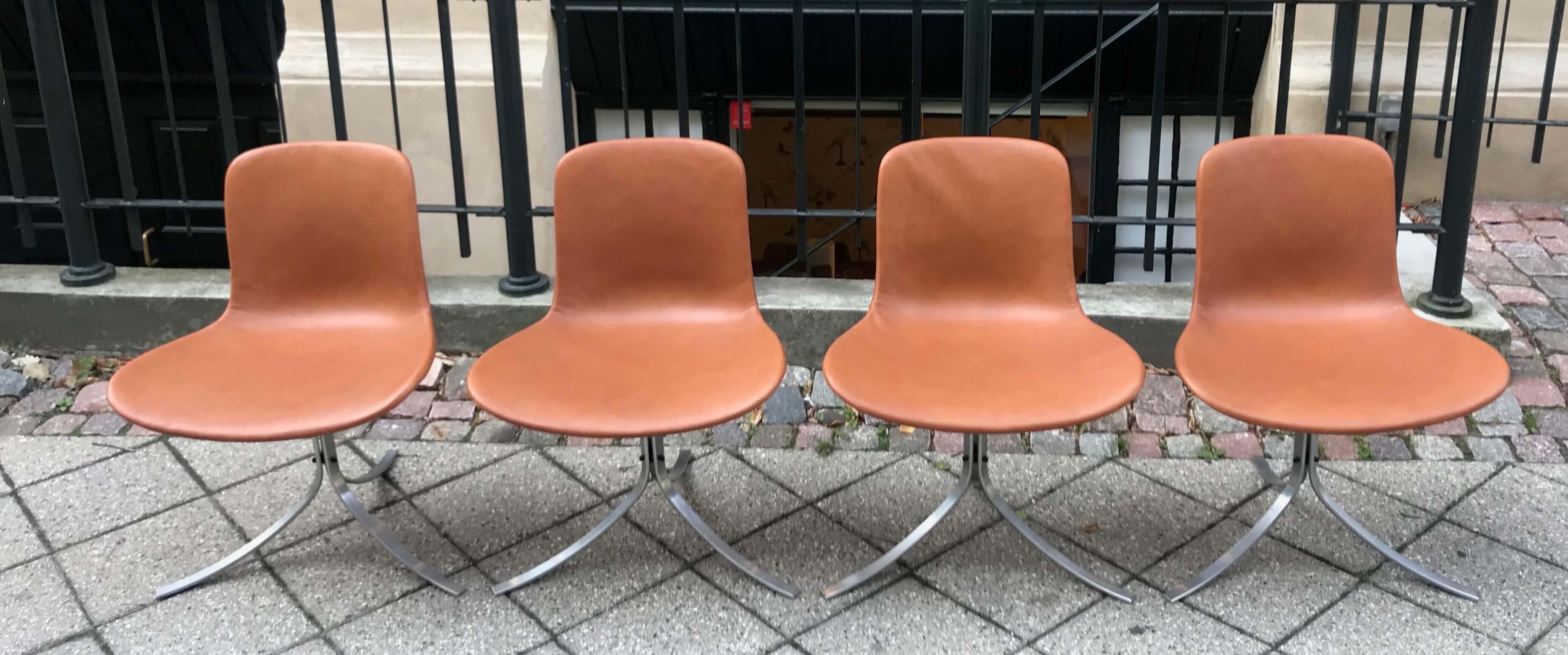 Vintage Poul Kjaerholm PK54 Tafel & PK9 stoelen
