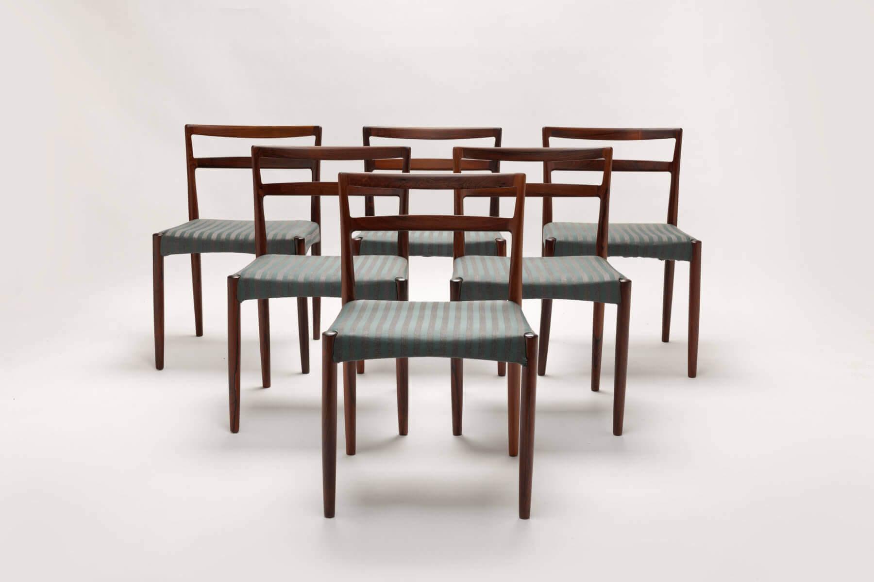 Vintage Palissander stoelen (6)