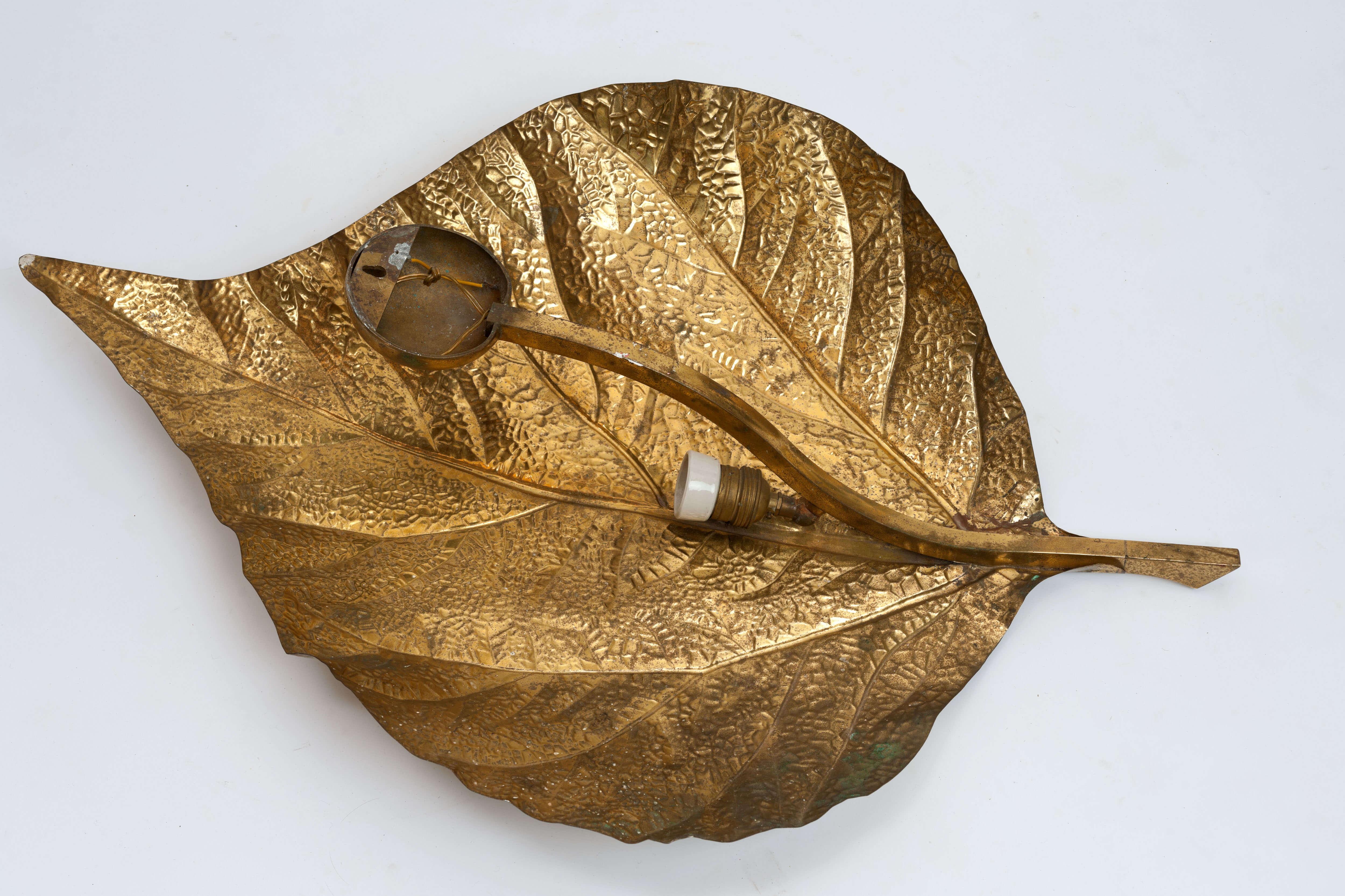 Vintage 'Leaf' Wandlamp