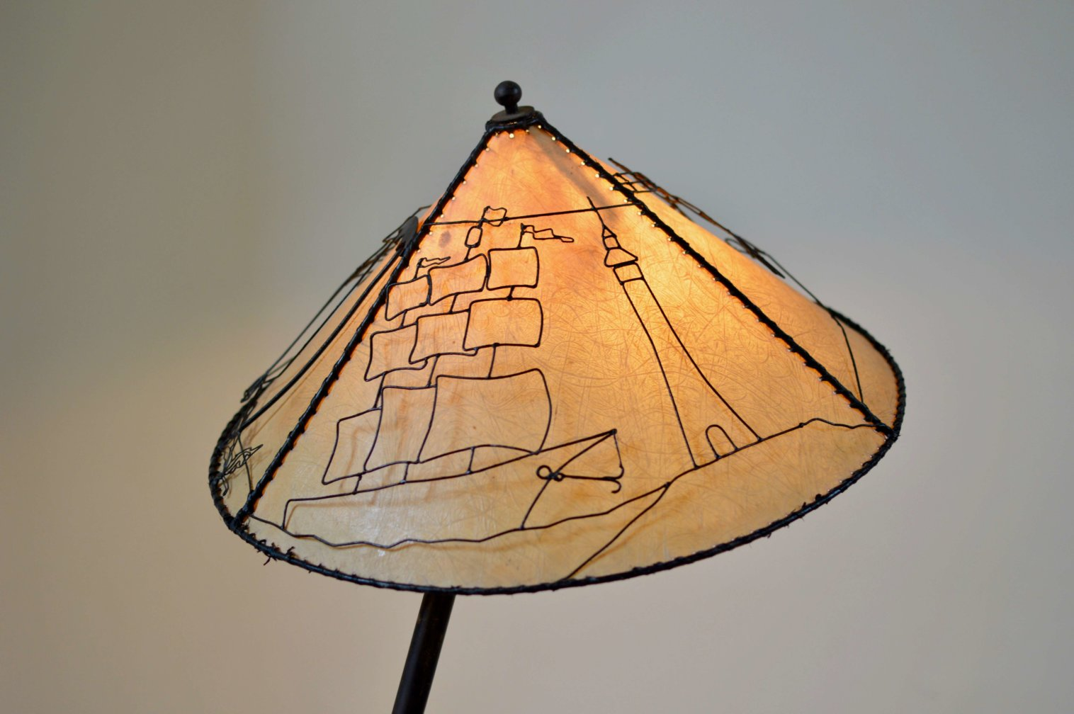 Vintage French Modern Bamboo Lamp
