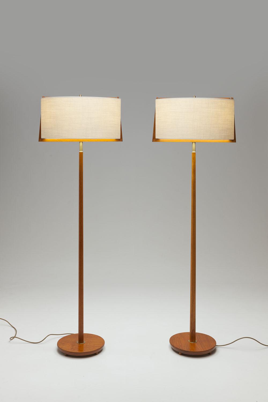 Vintage Swedish Grace 'kap in frame' vloerlampen