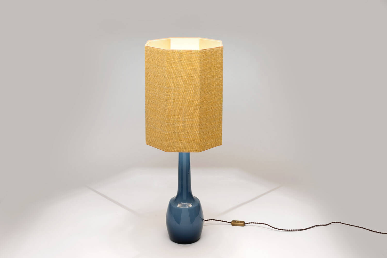 Vintage tafellamp met Octogonale Kap