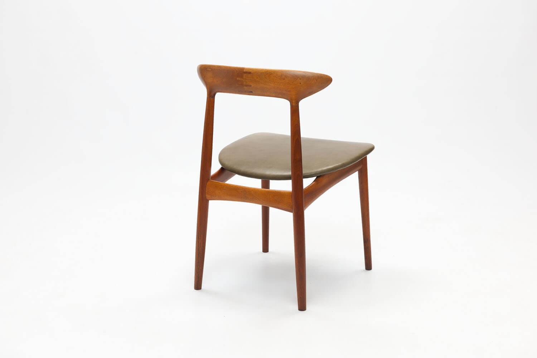 Vintage stoel met ingelegd hout