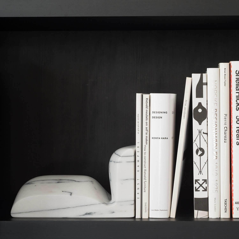 Slo Book Ends – White Aquatico Marble