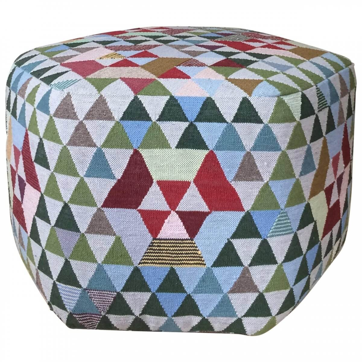 'Triangles' Pouf Trianglehex 'Sweet Green'