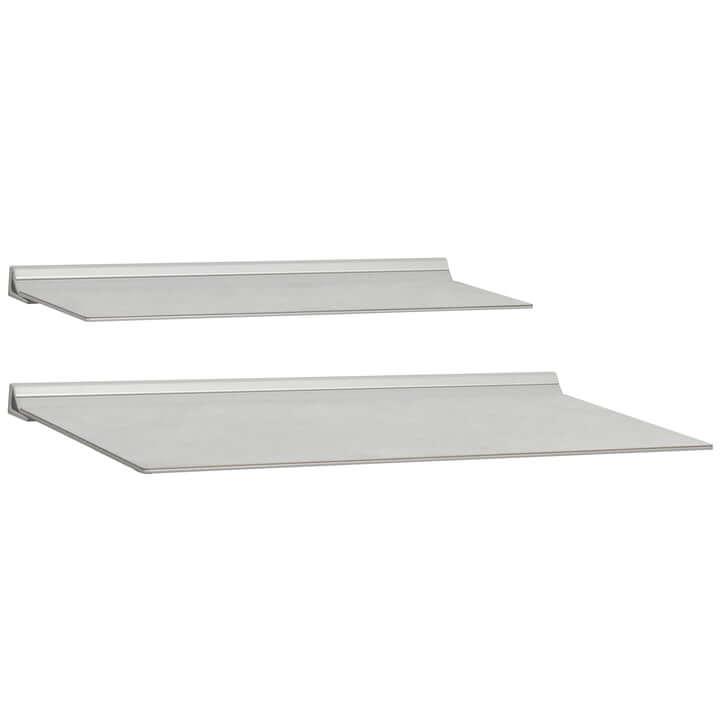 Pair (2) of 'Slim' Shelfs 'Warm Grey'