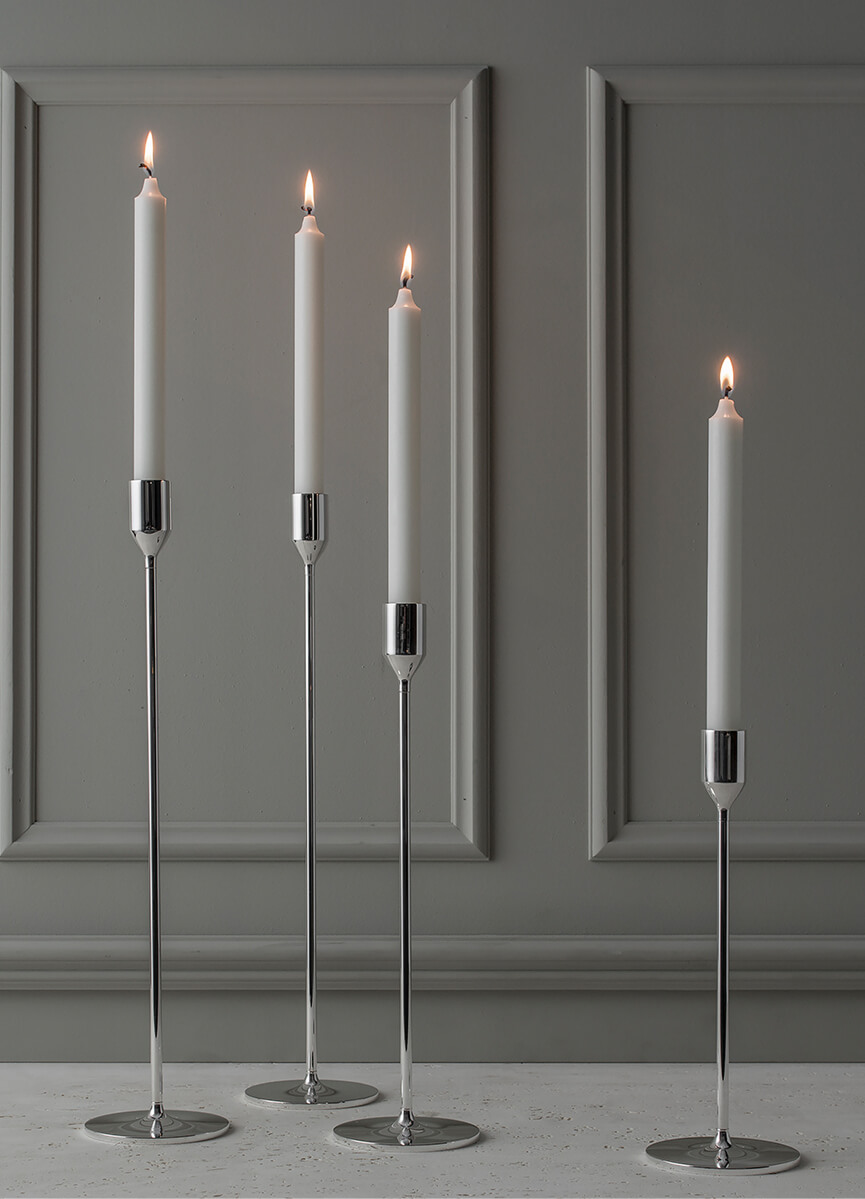 Set Nattlight Candle Sticks (2)  'Silver'