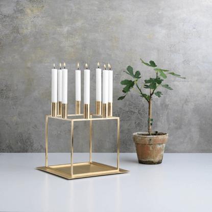 Kubus 8 Brass – Candle Holder & Tray
