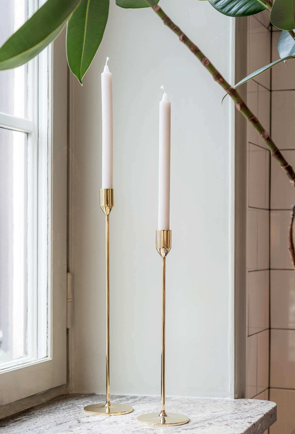 Nattlight Candle Sticks (2)  'Brass""