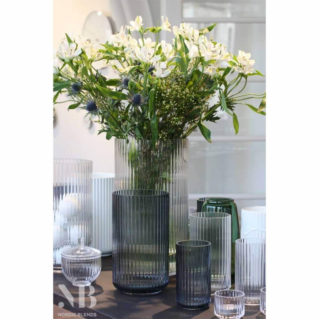 Glass 'Lyngby' Vase 38 cm 'Smoke'