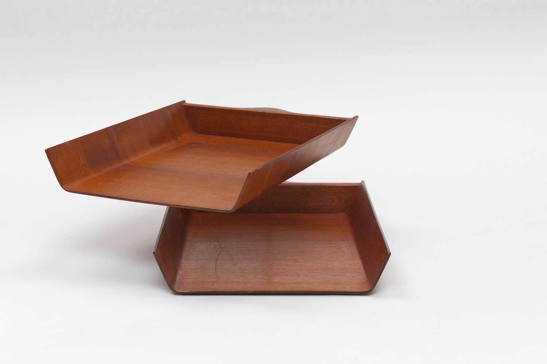 Vintage Double Pivoting Desk Tray