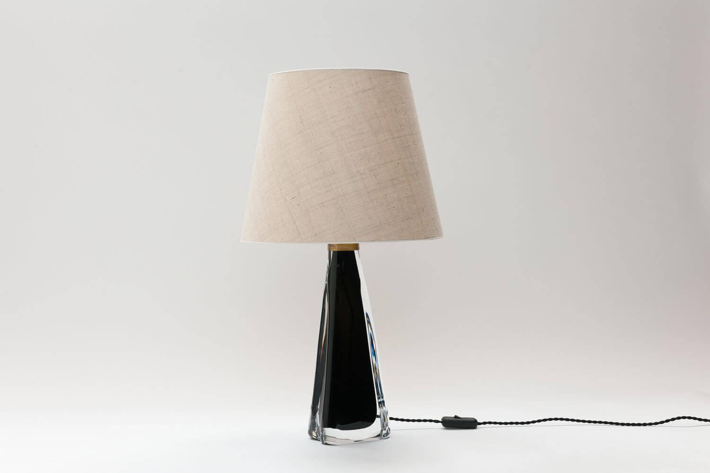 Vintage zwarte 'underfång' tafellamp