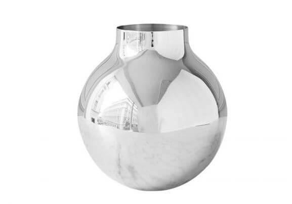 Boule vaas large zilver