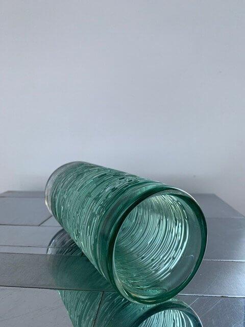 Vintage Seafoam Green Spun vaas
