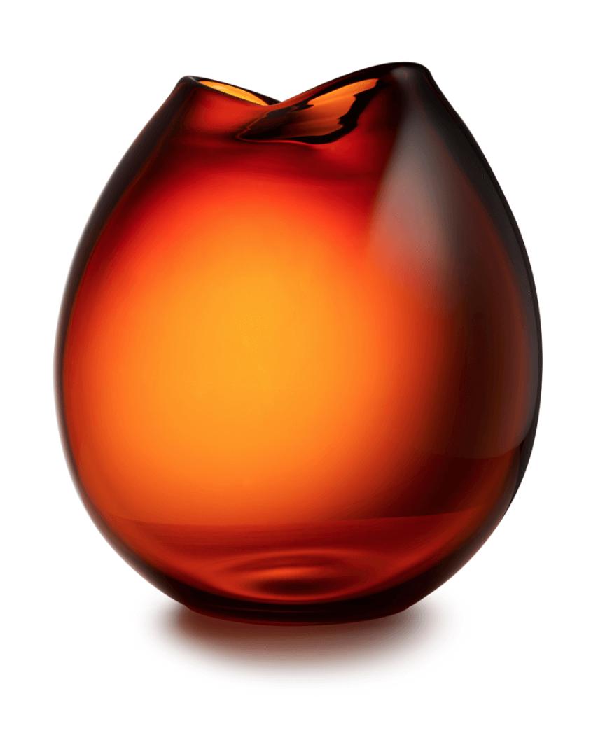 Rock Vaas 'Cognac'