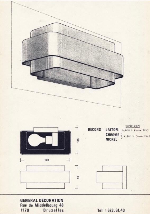 Vintage Messing Wandlamp